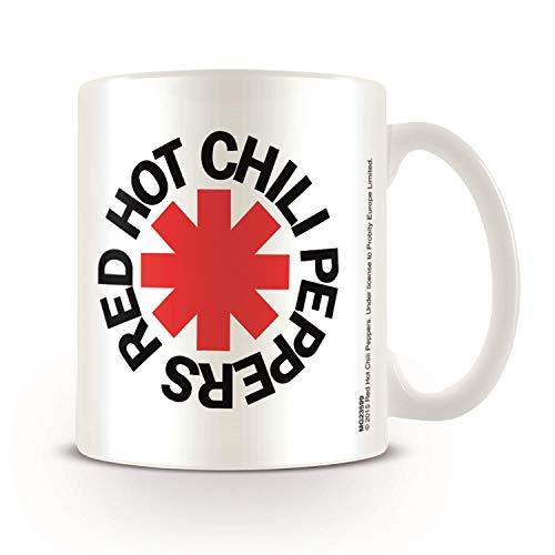Pyramid International Europosters Tazza Red Hot Chili Peppers, Bianco, Ceramica, Multicolore, Unica