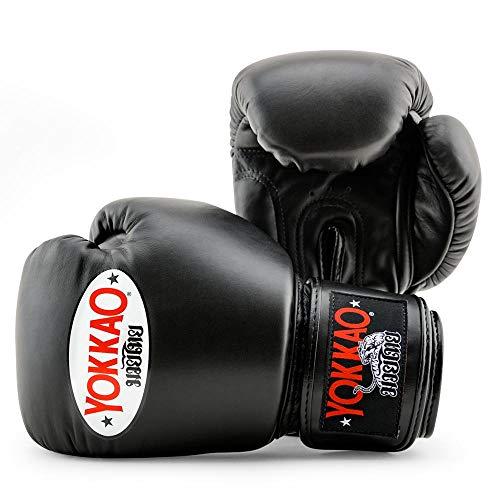 YOKKAO - Guanti da boxe Muay Thai, traspiranti, per Muay Thai, colore: Nero, Rosso, Blu, Bianco, Giallo, Verde, Grigio, Petrolio, 8 oz, 283,5 g, 340,2 g, 396,9 g, 453,6 g