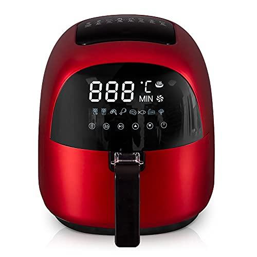 Freidora De Aire Caliente Grande Con Control De Temporizador De Temperatura Pantalla Táctil LED Digital Deshidratador De Apagado Automático Horno De Convección Sin Humo Aceitoso Freír Cocción Hornear