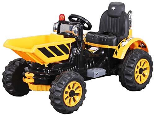 Actionbikes Motors Kinder Radlader JS328C 2 x 25 Watt Motor Elektro Lader Kinderauto Kinderfahrzeug Spielzeug für Kinder Kinderspielzeug (Gelb)