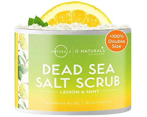 Körperpeeling Salt Body Scrub Peeling Gesicht Peeling Körper Zitrone Peeling Salz Dead Sea Salt Meersalz Scrub Gegen Fettige Hautreiniger Eingewachsene Haare Körner Akne Peeling Frauen Männer 500g