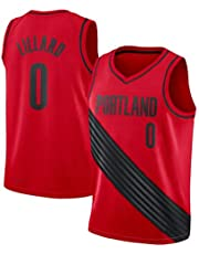 Camiseta de Baloncesto Damian Lillard, 0 Portland Trail Blazers Camiseta de Hombre Ropa Deportiva Malla Bordada Camiseta de Baloncesto Unisex Swingman (S-XXL)