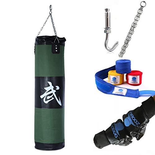 Sacos pesados de boxeo 5 PCS Establezca la bolsa de arena de entrenamiento, bolsa de perforación pesada sin relleno, bolsa de arena de fitness hueca para Taekwondo, entrenamiento de boxeoPlay de espad