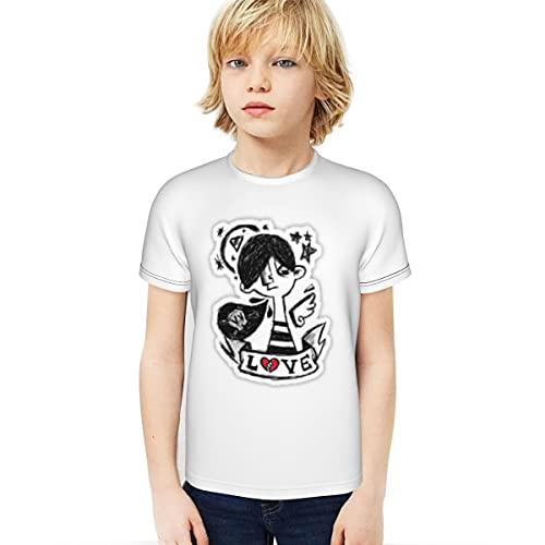 Pegatinas Niño Camiseta 3D Impreso Camiseta Interior y Exterior Studentsstickers Negro