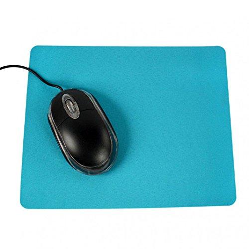 Tappetino per mouse rettangolare antiscivolo, in tinta unita, per videogiochi, PC e computer portatile, ultra sottile, per mouse e mouse per casa, ufficio, giochi, colore: blu