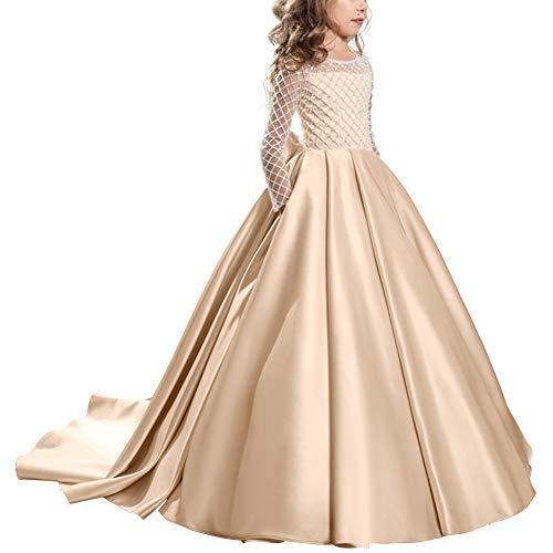 Vestido de niña de Flores para la Boda Princesa Vestidos de Dama...