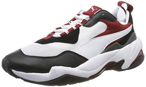 PUMA Thunder Fashion 2.0, Zapatillas Deportivas Unisex Adulto, White Black-Rhubarb 06, 37 EU