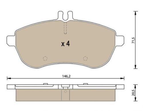 Patins de frein avant P1394