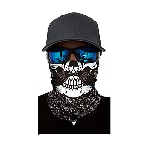 Lazzboy Radfahren Motorrad Neck Tube Skischal Sturmhaube Halloween Party Gesichtsschutz Halstuch Bedruckt Biker Schal Ski(A)