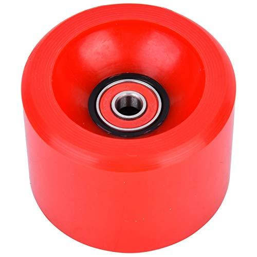 Eddwiin 1 Uds PU 70mm DIY Rojo patineta Rueda eléctrica Longboard Ruedas...