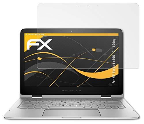 atFolix Panzerfolie kompatibel mit HP Spectre x360 13-4156ng Schutzfolie, entspiegelnde & stoßdämpfende FX Folie (2X)