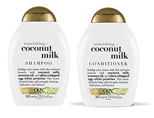 OGX Nourishing Coconut Milk Shampoo & Conditioner (13 Ounce)(Combo Pack)