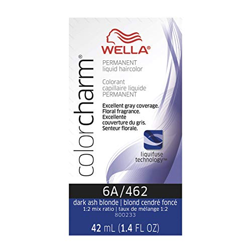 Wella Color Charm Permanent Liquid Hair Color, 6A Dark Smoky Ash Blonde, 1.4 fl oz