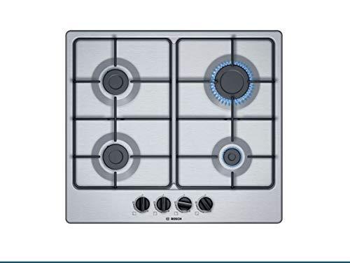 Cocina de 60 cm Gas, N° 4 fuegos, Inox - PGP6B5B85 Serie 4 Bosch