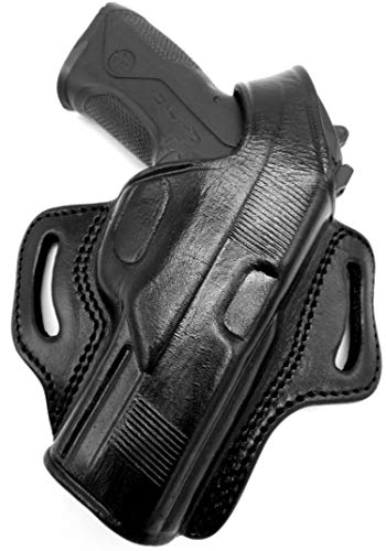 "HOLSTERMART USA TAGUA Springfield Armory XDM 4.5"" Right Hand Black Leather Thumb Break OWB Belt Holster"