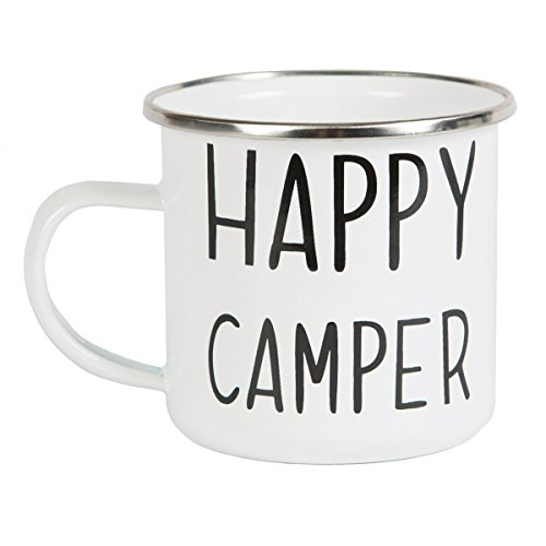 Mug en émail « Happy Camper »