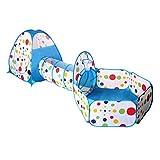 BESPORTBLE Túneles de Niños Tienda de Campaña Infantil Piscina de Bolas Pop up Tent para Bebé (Azul)