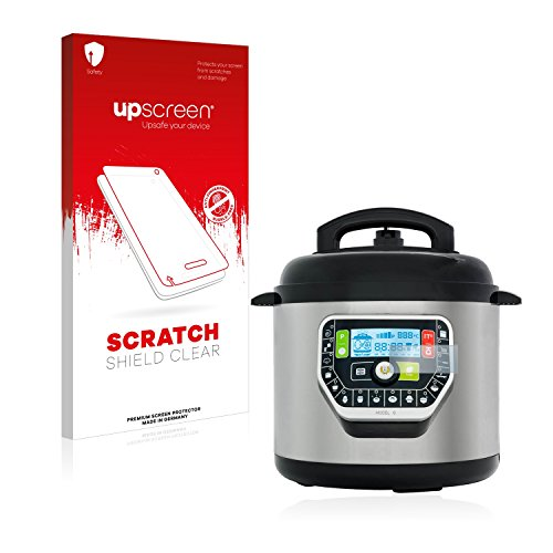 upscreen Protector Pantalla Compatible con Cecotec Olla GM Modelo G Deluxe Película Protectora – Transparente, Anti-Huellas