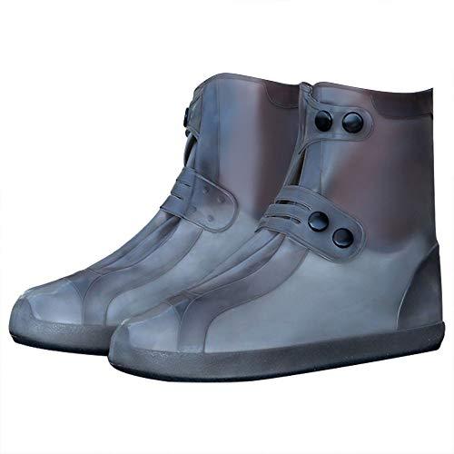 G-LIKE Wasserdicht Rutschfest Schuhbezug Zubehör - Outdoor Regen Schutz Ausrüstung Verschleißfest Stiefel Schuhüberzug Weich Faltbar Dichte Sohle Passform für Damen Herren (4XL, Braun (Mittelstiefel))