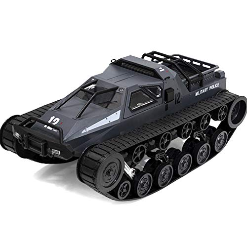 FinWell 1/12 2.4G Drift RC Tank Car High Speed Full Proportional Control Vehicle Model Toy Remote Control Car Toy Model Climbing Cars Gifts for Kids Adults