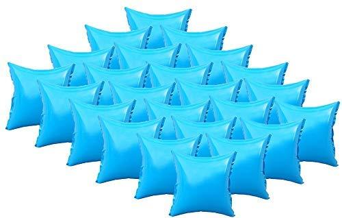 Well2wellness 24 x Zwembad Luchtkussen, Zwembad Kussen en Winter Kussens voor Hoezen met Top-Ventil en 4 Ogen