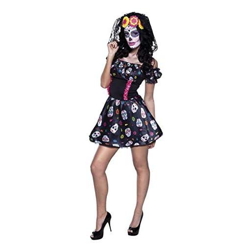 Boland- Costume Miss Dia De Los Muertos per Adulti, Nero, Taglia 40/42, 79079