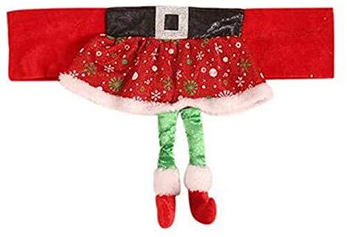 N/C Decoración de Fundas de Silla de Navidad Navidad Cubierta de la Silla Falda roja de niña Funda de Asiento de Silla de Navidad para decoración de Cena de Fiesta de Navidad 🔥