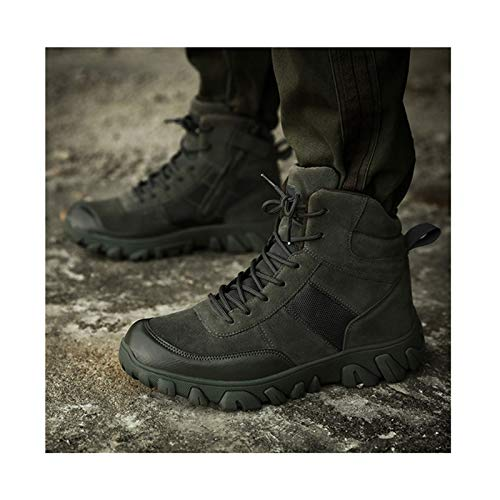 Winter Mountaineering Shoes Tactical Boots,Military Combat Boot ,Men Army Hunting Trekking Camping Shoe,Green-43