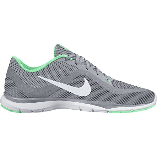 Nike Women's Flex Trainer 6 Training Shoes Wolf Grey/Platinum/Green Glow Size 10 M US