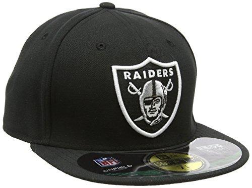 New Era Baseball Cap Mütze NFL On Field Oakland Raiders 59 Fifty Fitted Gorra de béisbol, Hombre, Negro-Team, 6 7/8