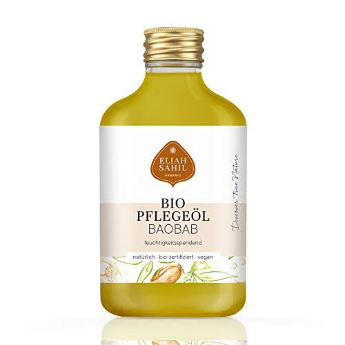 FEINSTES BIO BaoBab Pflegeöl - parfümfrei und ohne künstliche Zusatzstoffen - 100% BIO zertifizierte Naturkosmetik - VEGAN und Tierversuchsfrei - 100 ML Adansonia Öl