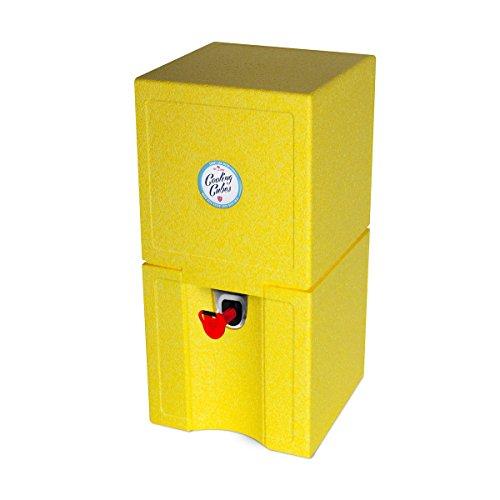 Cooling Cubes Spot - Beachparty en Sundowner koelbox voor 5 liter biervat partyvat bierkoeler biervat koeler (geel)