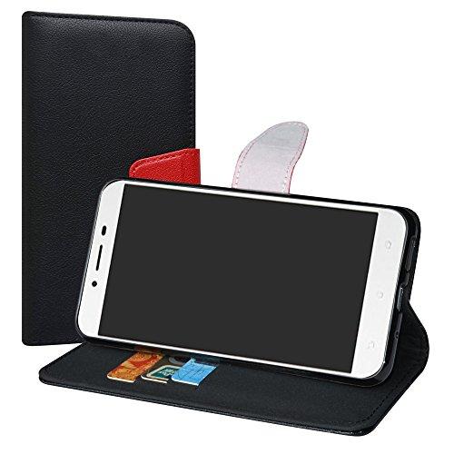 LiuShan Zenfone 3 MAX ZC553KL Funda, PU Cuero Book Style Bil