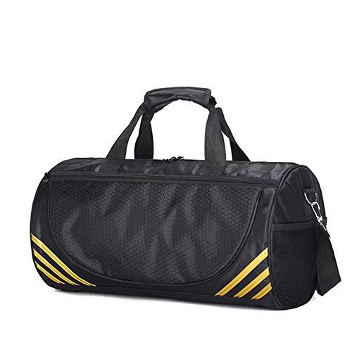 AzuNaisi Borsa da Palestra, Impermeabile Sport Gym Bag Vano viaggio Borsone di grande capienza del sacchetto Striscia regolabile per uomini e donne d'oro
