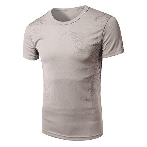 T Shirt Herren, Coole V-Ausschnitt Kurzarm Sweatshirt Slim Fit Basic UV Polo-Shirt Mode Sport Oberteile Oversize Bench Tops Schädel Drucken Sommer Freizeit Hemd Poloshirt