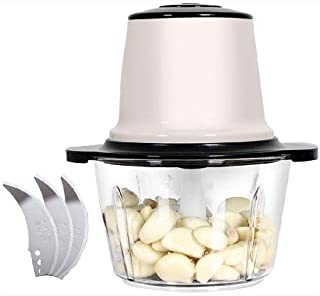 CUJUX Meat Grinder-Electric Stainless Steel Food Bowl Chopper,Stable Non-Slip Efficient Save Time Labor Saving, Easy Clean...