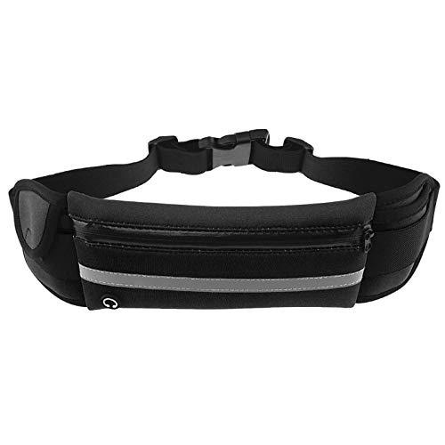 yaunli Bolsa de Paquete de Cintura al Aire Libre Multifuncional Ejecución de Banda Outdoor Running Bolsa Bolsa Bolsa de Cintura Riding Paquete Deportivo Ligero (Color : Black, Size : One Size)