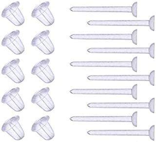 YOYOSTORE 3mm Invisible Plastic Earrings Blank Pins Stud Tiny Head Findings DIY Supplies (100 pieces/50 Pairs)