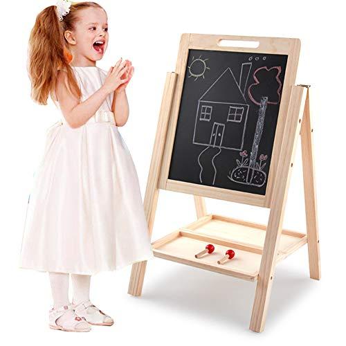 Tekentafel voor Kinderen Children's Houten Blackboard Whiteboard Schildersezel van de lijst met Fun Education Learning to Pretend Play Games Toys Stabiele Ontwerp en Gezonde Materialen