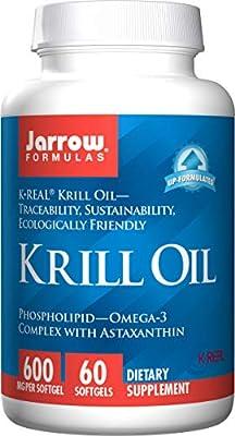 Jarrow Krill Oil (400mg Omega 3 Complex, 60 Softgels) by Jarrow FORMULAS