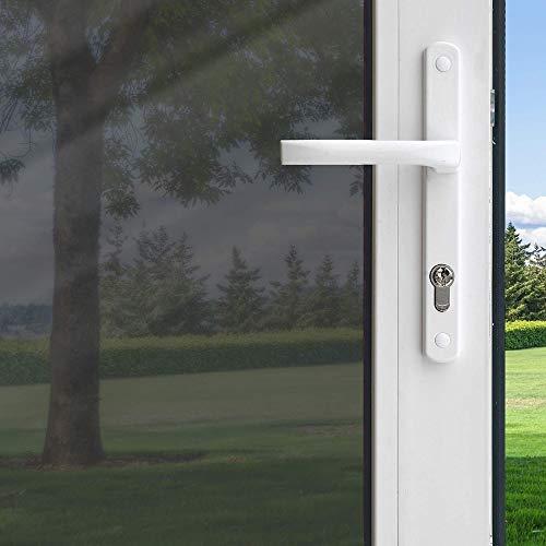 Película solar autoadhesiva para ventanas, película de color de espejo unidireccional reflectante de aislamiento térmico para la reflexión de la oficina en casa, película para el hogar A157 60x200cm