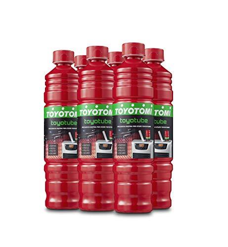 Toyotube - Ricarica Rapida per stufe Toyotomi - Confezione da 6 bottiglie da 1,4 L + filtro adattatore