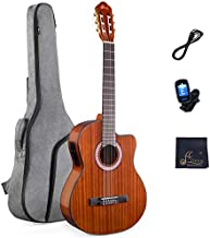39 Inches Cutaway Nylon-string Classical Electric Guitar Build-in Pickup Kit Set