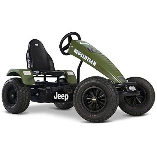 Berg Pedal Gokart BFR-3 Jeep® Revolution | Kinderfahrzeug, Tretauto mit Optimale Sicherheid, Luftreifen und Freilauf, Kinderspielzeug geeignet für Kinder im Alter von 5+ Jahren