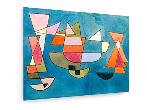Paul Klee - Segelboote - 1927-100x75 cm - Leinwandbild auf Keilrahmen - Wand-Bild - Kunst, Gemälde, Foto, Bild auf Leinwand - Alte Meister/Museum