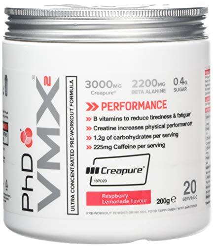 PhD Nutrition VMX2 Pre-Workout, Raspberry Lemonade,200 g