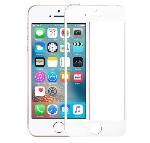 DolDer Apple iPhone SE/5S/5 Cristal Templado 9H 2.5D Full Cover Anti-Shatter Película...