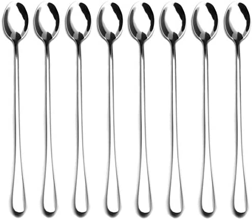 9 inch Long Handle Stirring Spoon Ice Tea Coffee Spoon Stainless Steel Cocktail Mixing Spoons product image