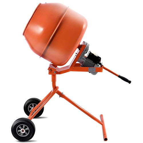 Electric Concrete Cement Mixer 1/2HP 5 cubic ft Barrow Machine for Mixing Mortar, Stucco, Seeds