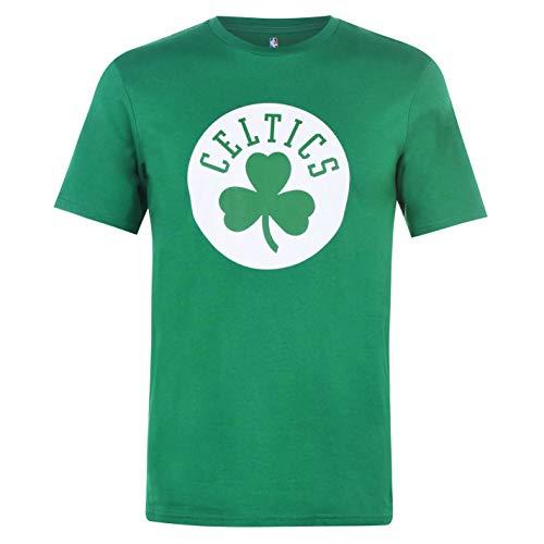 NBA Hombre Logo Camiseta Deportiva Cuello Redondo Ligera Celtics 2XL